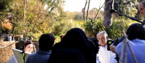 Grabación de la entrevista a Mujica, en Uruguay.