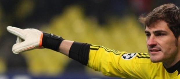 Casillas durante un partido del Madrid