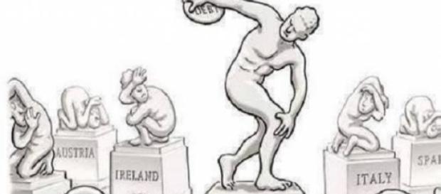 Chiste-metáfora actual de Grecia y la UE.