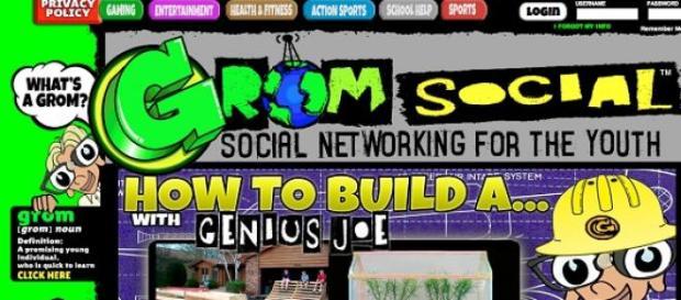 Grom social. Rede social só para crianças.