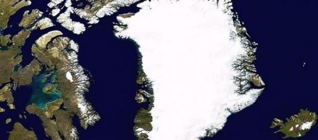 La superficie de Groenlandia se deshiela