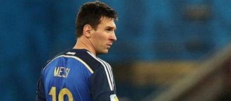 Messi triste per la sconfitta dell'Argentina