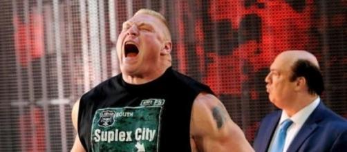 Brock Lesnar and Paul Heyman (image via WWE)