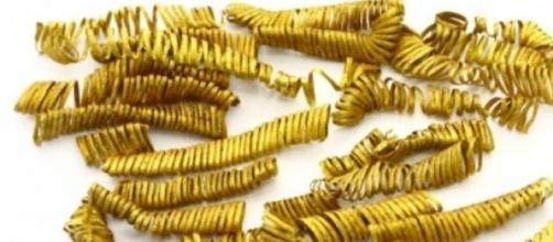 Espirales de oro relacionadas con el culto al Sol