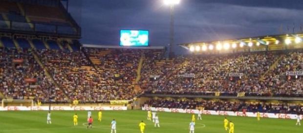 El Villarreal disputando un partido