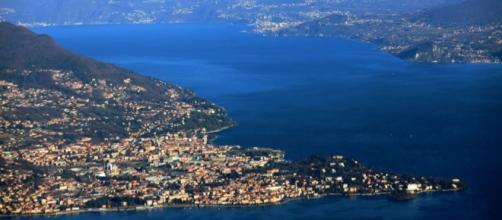 Lago de Como en el norte de Italia