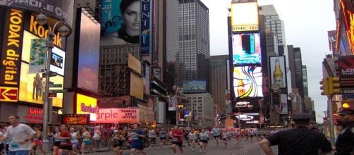 New York durante una maratona cittadina