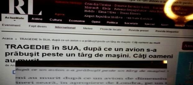 Gafă de proporții în presa scrisă din România
