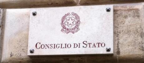La targa del Consiglio di Stato sito in Roma