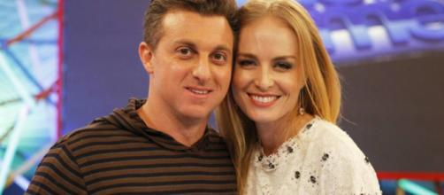 Luciano Huck e Angélica na Rede Globo