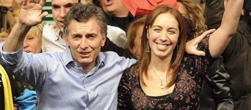 Macri y Vidal festejando en la elección