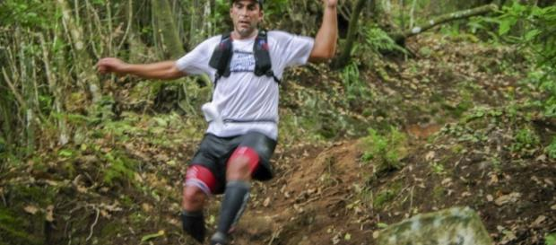 Corredor participante do Trail do Porto da Cruz