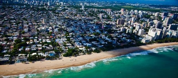 vista aerea de San Juan, Puerto Rico
