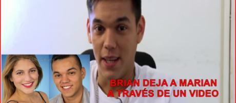Brian decidió dejar a Marian grabando un video