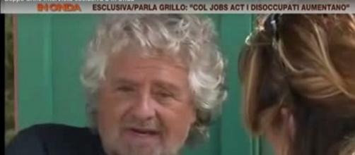 Beppe Grillo ai microfoni di La7
