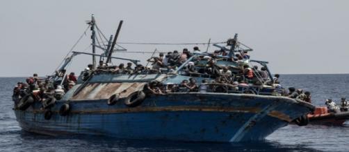 Foto de naufragio en el Mediterráneo, MSF