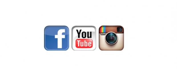Facebook, Instagram, Youtube logos