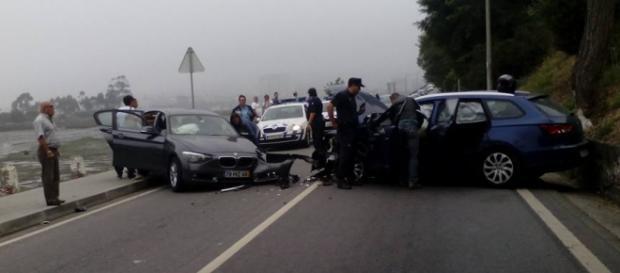 Foto: Manuel Rebelo-Acidente em Viana do Castelo.