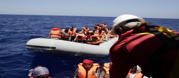 Imagen rescate en Mediterráneo. MSF