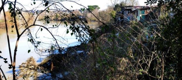 Le rive del fiume Aniene a Roma