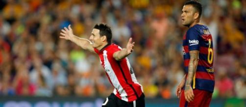 Aduriz anota el empate del Bilbao campeón