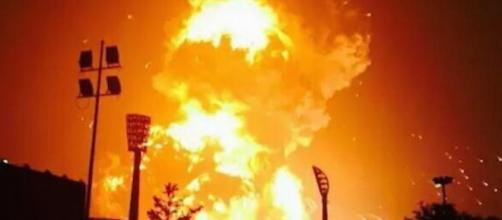 Terribles explosiones en Tianjin, China