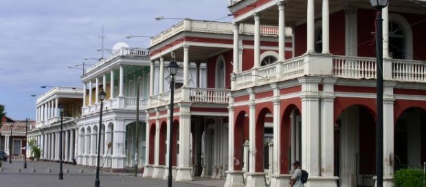 Ciudad de Granada situada en Nicaragua