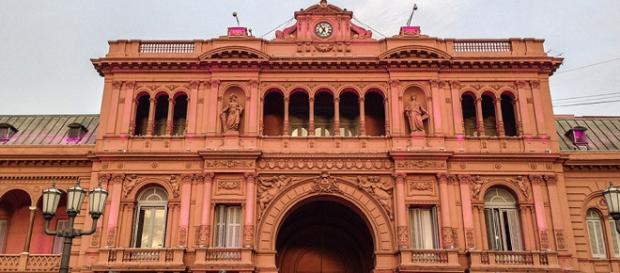 Entrada da Casa Rosada, em Buenos Aires.