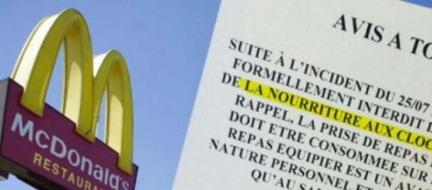 McDonald's France circolare d'avviso ai dipendenti