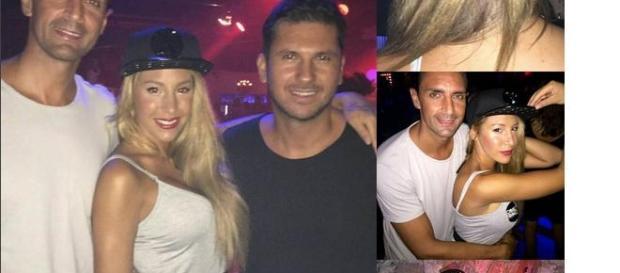 Steisy, rodeada de hombres en Ibiza