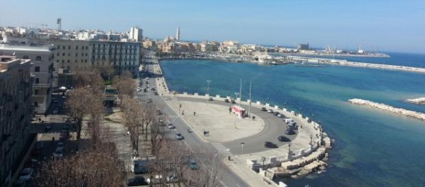 Una vista panoramica della città di Bari