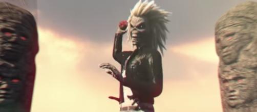 Eddie em Speed of Light (Reprodução Iron Maiden)