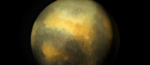 Imagen artística del planeta enano Plutón