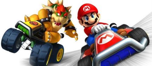 Super Mario a bordo del suo kart.