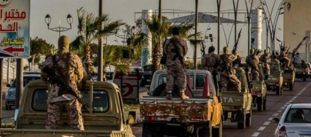 Forze militari jihadiste a Sirte, foto ABC.