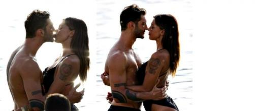 L'estate al bacio di Belen Rodriguez e Stefano.
