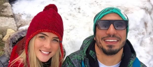 Aline e Fernando juntos em Bariloche