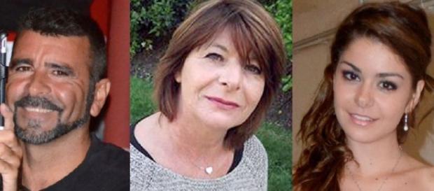 Benítez, su mujer Marie-Josée y su hija Allison.