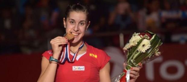La onubense Carolina Martín con el oro