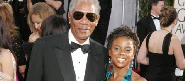 Morgan Freeman y su difunta nieta.
