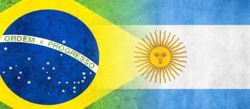 Bandeiras Brasil e Argentina/Creative Commons.