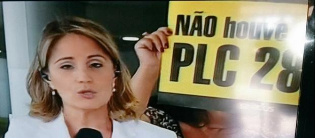 Link da Globo ao vivo é atrapalhado por protesto