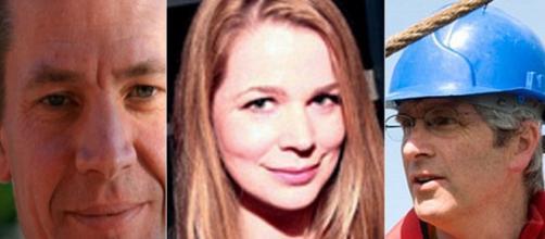 Los tres científicos supuestamente asesinados.