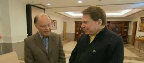 Silvio Santos e Edir Macedo no Templo de Salomão