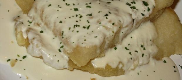 Filets de pescado a la crema de verdeo