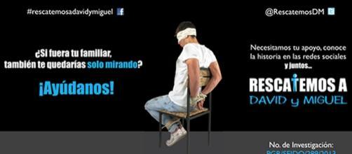 Campaña social para rescatar a David y Miguel