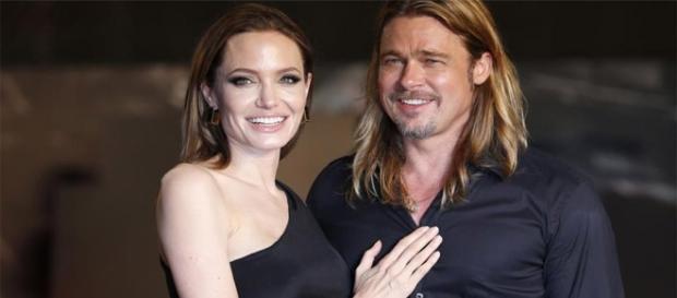 Angelina Jolie junto a su esposo Brad Pitt