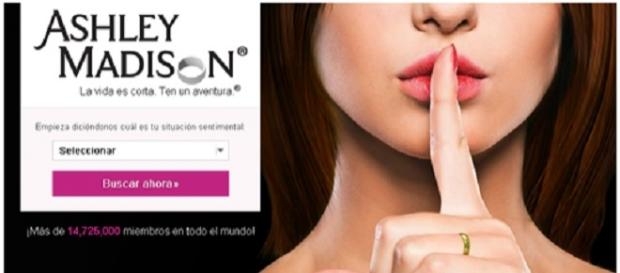 Foto publicitaria de Ashley Madison en español.