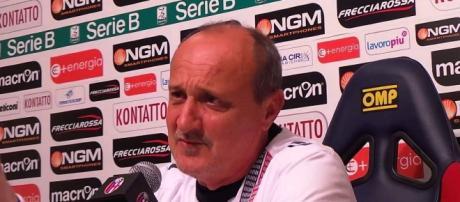 Delio Rossi in conferenza stampa
