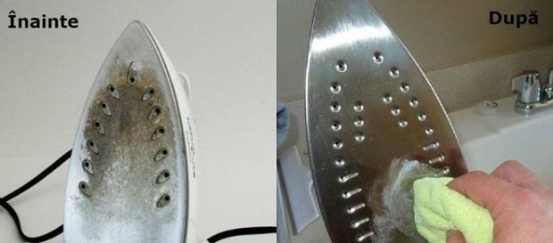 Cum poți curăța fierul de călcat
